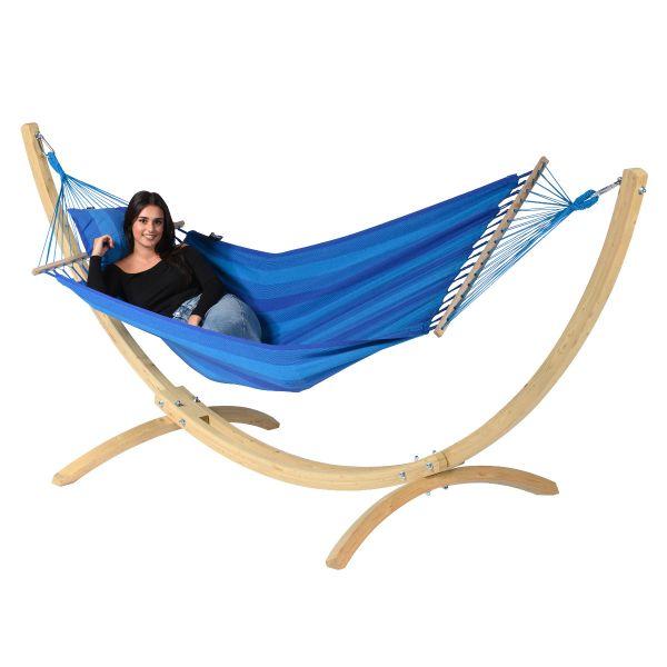 Wood & Relax Blue Yhden HengenRiippumatto Telineellä