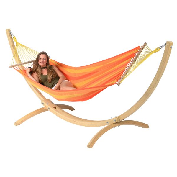 Wood & Relax Orange Yhden HengenRiippumatto Telineellä
