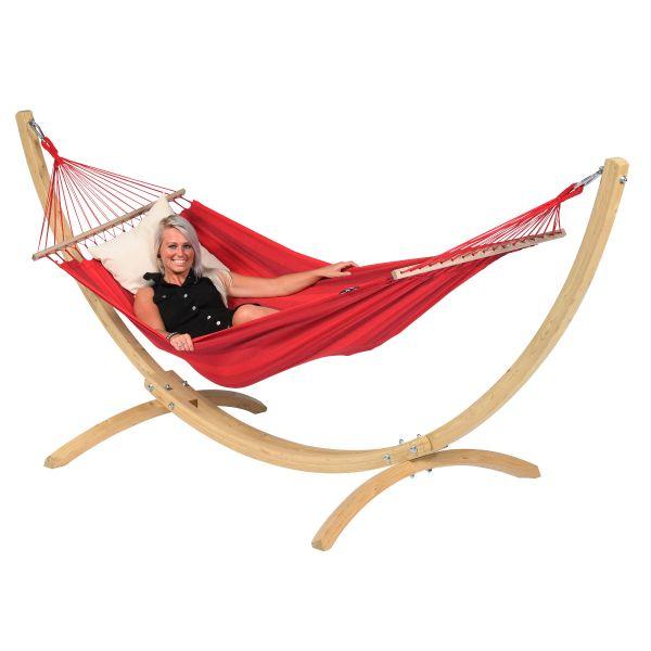 Wood & Relax Red Yhden HengenRiippumatto Telineellä