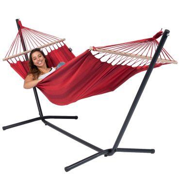 Easy & Relax Red Yhden HengenRiippumatto Telineellä