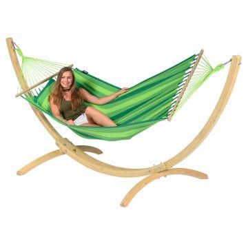 Wood & Relax Green Yhden HengenRiippumatto Telineellä